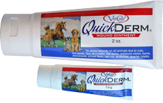 QuickDerm pet wound treatment